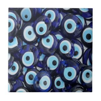 El mal de ojo de los amuletos de Nazar empiedra el Azulejo Cuadrado Pequeño