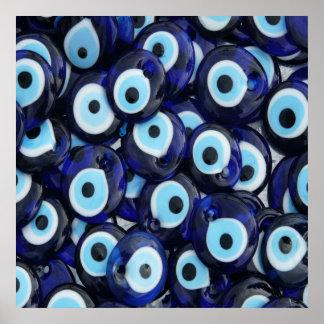 El mal de ojo de los amuletos de Nazar empiedra el Póster