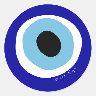 El mal de ojo pegatina redonda