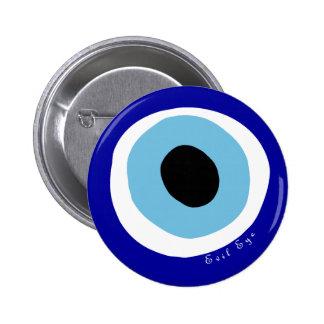El mal de ojo pin redondo de 2 pulgadas