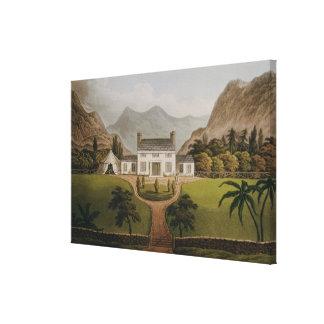 El Mal-Maison de Bonaparte en St. Helena, 1821 Impresión En Lona Estirada