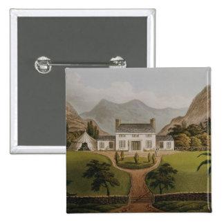 El Mal-Maison de Bonaparte en St. Helena, 1821 Pin Cuadrada 5 Cm