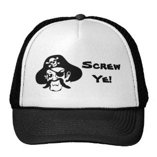 ¡El Maldición-Tornillo YE del pirata! Gorro
