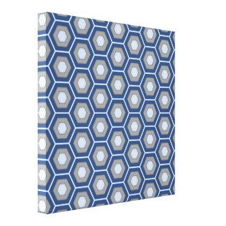 El maleficio azul y gris tejó la lona lienzo envuelto para galerías