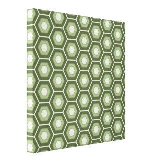 El maleficio del verde verde oliva tejó la lona lienzo envuelto para galerias