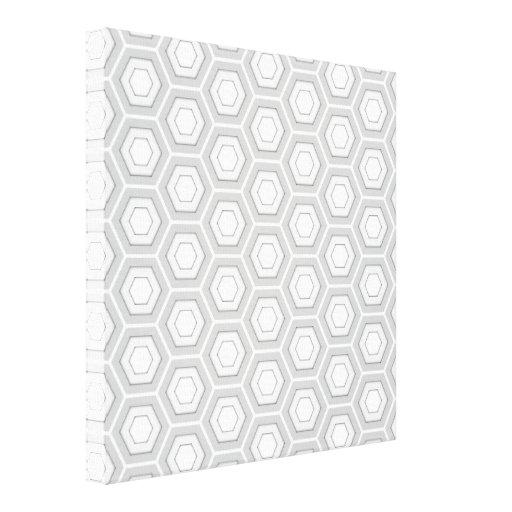 El maleficio gris claro tejó la lona impresión en lona estirada
