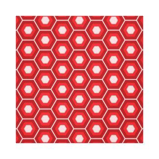 El maleficio rojo tejó la lona impresión en tela