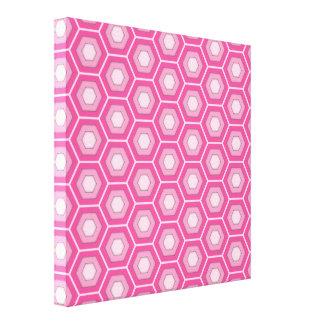 El maleficio rosado tejó la lona lona envuelta para galerías