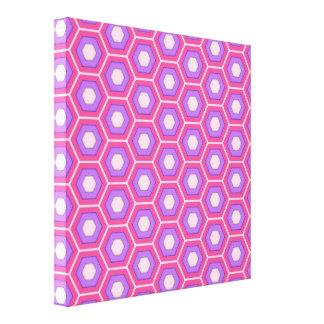 El maleficio rosado y púrpura tejó la lona impresiones en lienzo estiradas