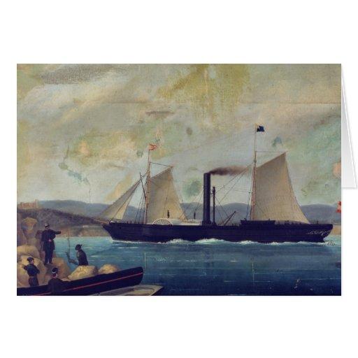 """El """"Mallorcan"""", nave en el cual George Sand y Cho Tarjeta"""