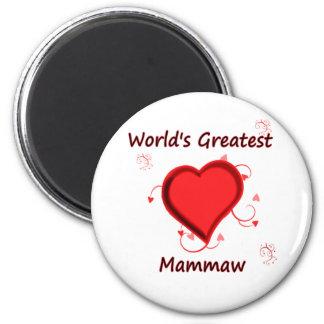 El mammaw más grande del mundo imán redondo 5 cm