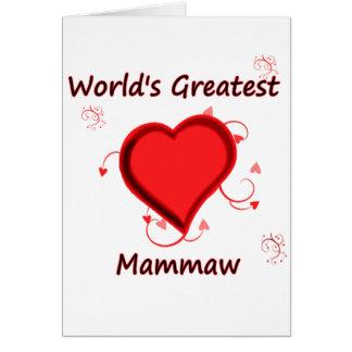 El mammaw más grande del mundo tarjeta de felicitación