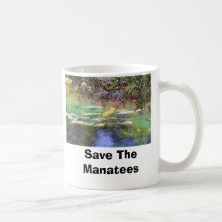 El Manatee en las BS, ahorra los Manatees Taza