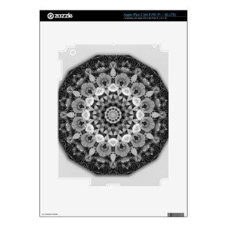 El mandala-estilo floral, tulipanes se ennegrece, iPad 3 skins