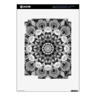 El mandala-estilo floral, tulipanes se ennegrece, pegatina skin para iPad 3