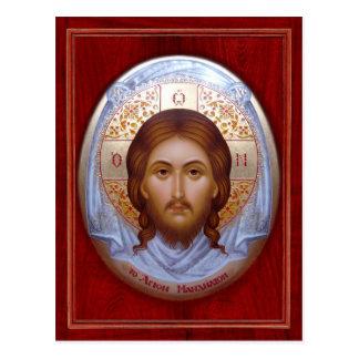 EL MANDYLION SANTO - postal de la tarjeta del icon