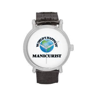 El manicuro más feliz del mundo relojes de pulsera