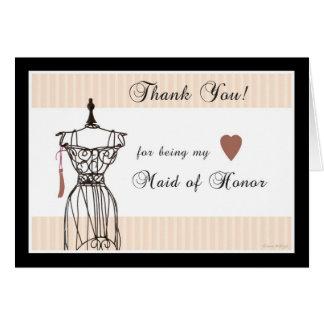 El maniquí le agradece por ser mi criada del honor felicitación