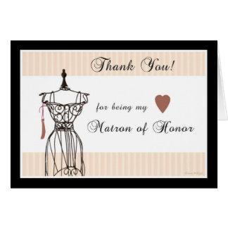 El maniquí le agradece por ser mi matrona del hono felicitación