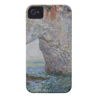 El Manneporte cerca de Étretat - Claude Monet iPhone 4 Case-Mate Cárcasa