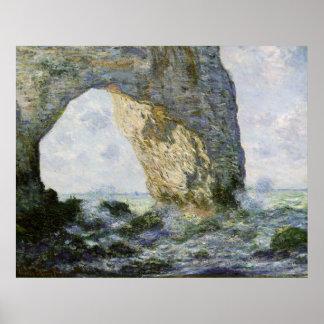 El Manneporte de Claude Monet Póster