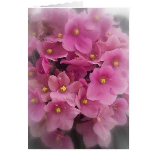 El manojo rosado tarjeta de felicitación