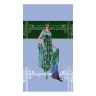 El mantón de Charlotte los años 20 forman en azul Plantillas De Tarjetas Personales