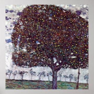 El manzano De Gustavo Klimt Poster