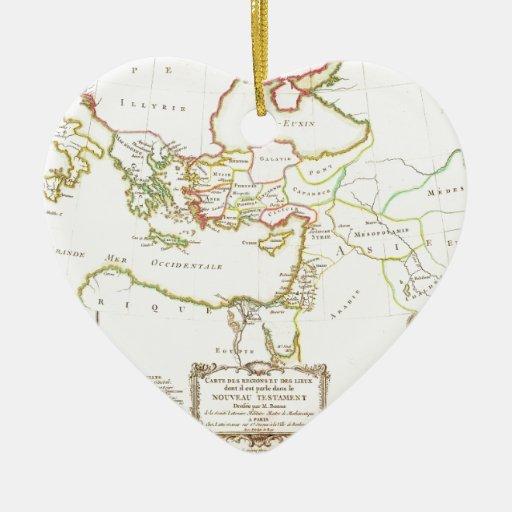 El mapa 1771 de Bonne del nuevo testamento aterriz Ornamento De Reyes Magos