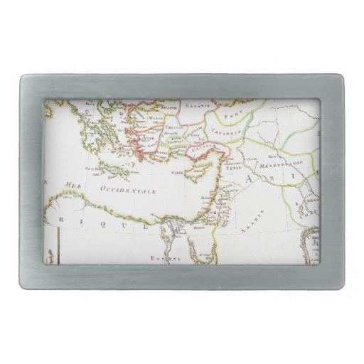 El mapa 1771 de Bonne del nuevo testamento aterriz Hebillas Cinturon