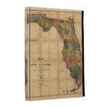 El mapa 1856 del estado de la Florida por Columbus