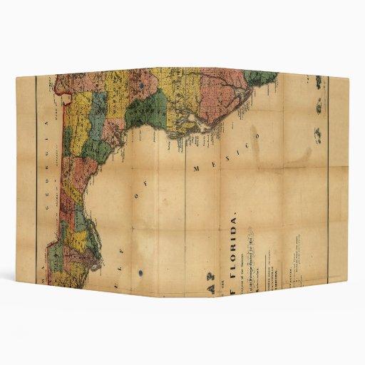 """El mapa 1856 del estado de la Florida por Columbus Carpeta 2"""""""
