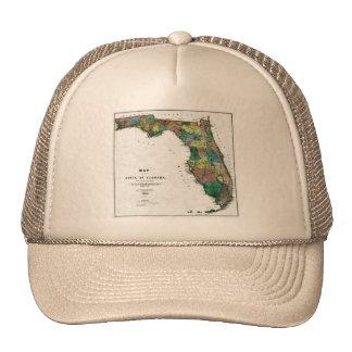 El mapa 1856 del estado de la Florida por Columbus Gorra