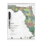 El mapa 1856 del estado de la Florida por Columbus Pizarras