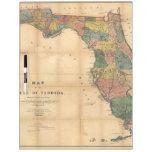 El mapa 1856 del estado de la Florida por Columbus Pizarra Blanca