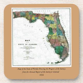 El mapa 1856 del estado de la Florida por Columbus Posavasos