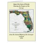 El mapa 1856 del estado de la Florida por Columbus Tarjetas