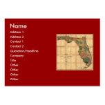 El mapa 1856 del estado de la Florida por Columbus Tarjeta Personal