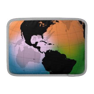 El mapa actual de océano de Américas Fundas MacBook