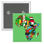 El mapa africano de África señala la bandera de lo Pins