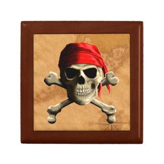 El mapa alegre del pirata de Rogelio Caja De Regalo Cuadrada Pequeña