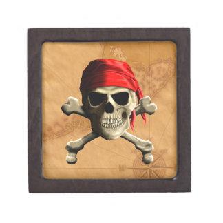 El mapa alegre del pirata de Rogelio Cajas De Recuerdo De Calidad