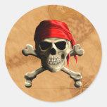 El mapa alegre del pirata de Rogelio Pegatinas Redondas