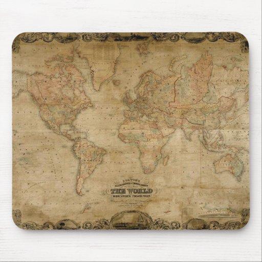 El mapa antiguo Mousepad de Colton Alfombrilla De Ratón