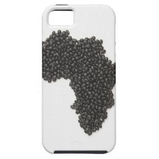 El mapa de África hizo de alubias negras iPhone 5 Carcasa