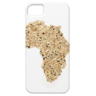 El mapa de África hizo de cereales iPhone 5 Carcasas
