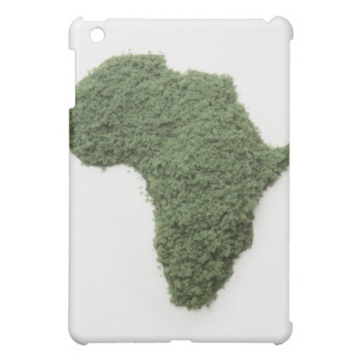El mapa de África hizo de hierba