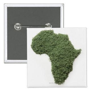 El mapa de África hizo de hierba Pin Cuadrada 5 Cm