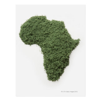 El mapa de África hizo de hierba Postal