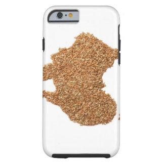 El mapa de Australia hizo del arroz pegajoso Funda Para iPhone 6 Tough